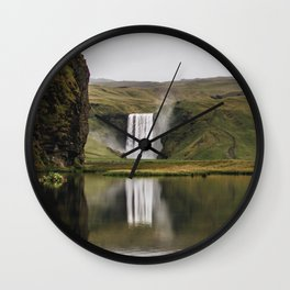 Skógafoss Waterfall - Micah Hamilton Wall Clock