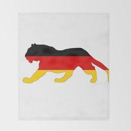 German Flag - Tiger Throw Blanket