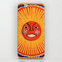 The sun Huichol art iPhone Skin
