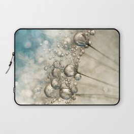 Sapphire & Silver Sparkle Laptop Sleeve