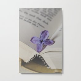 Lilac Bookmark Metal Print