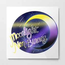 Non-Binary Moonlight Pride Metal Print