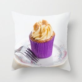 Banoffee Cupcake Throw Pillow