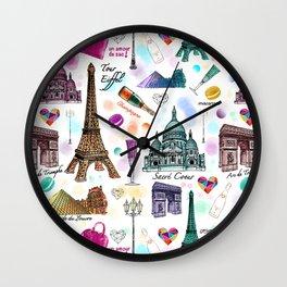 Voyage à Paris (Watercolor) Wall Clock