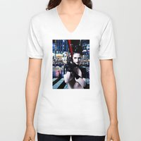 android V-neck T-shirts featuring Android Dreams by Danielle Tanimura
