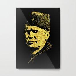 Josip Broz Tito Abstract Portrait President of Yugoslavia SFRJ Metal Print
