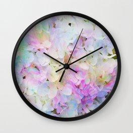 Marble Lights Hydrangea Wall Clock