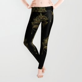 Ornamental Lotus flower Leggings