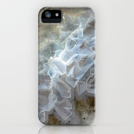 Crystal agate extreme closeup 0635 iPhone Case
