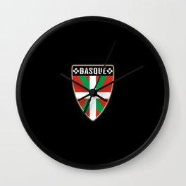 Basque Country Shield Wall Clock
