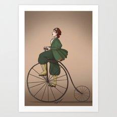 Victorian Biker Art Print