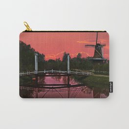 The deZwaan Dutch Windmill at Sunset Carry-All Pouch