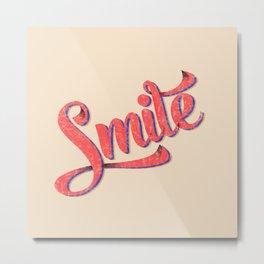 Smile typography Metal Print