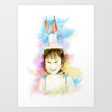 Little Miss Fourth Of July Art Print