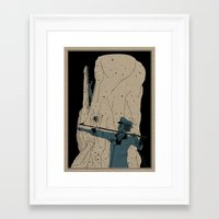 dick Framed Art Prints featuring Moby dick by danb