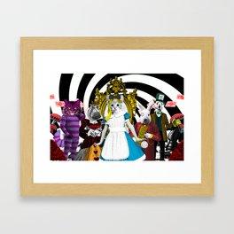 Cat-lice in Wonderland Framed Art Print