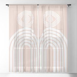 Abstraction_EYE_LINES_Minimalism_001 Sheer Curtain
