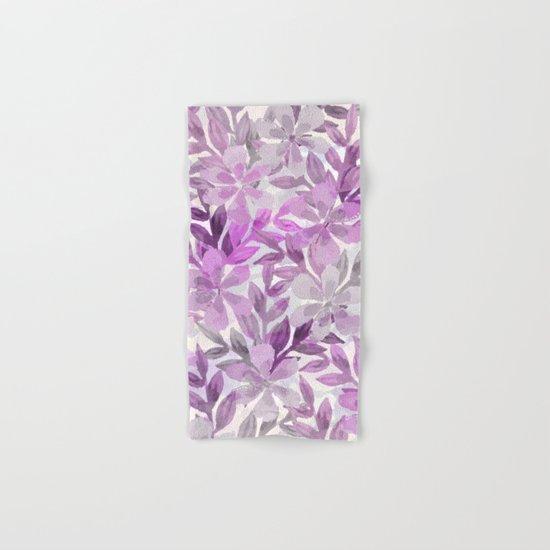 watercolor Botanical garden III Hand & Bath Towel