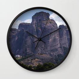 Panorama of Meteora Wall Clock