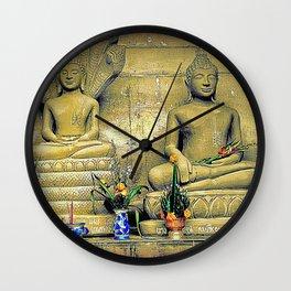 Flowers & Stone. Wall Clock