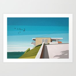 'Spencer House' (1955) Mid century house Art Print