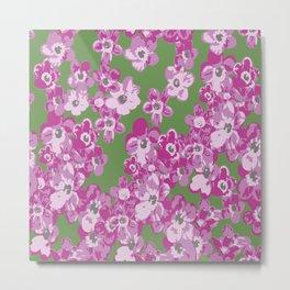 Pink Saxifraga floral Metal Print