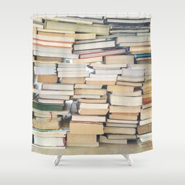 Books, Pages, Stories Shower Curtain