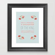 Daughter of the king Framed Art Print