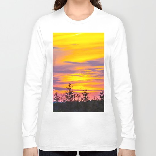 Sunset above the forest Long Sleeve T-shirt