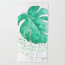 monstera monday Beach Towel