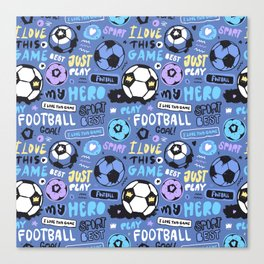 Art Football. Pattern #4 Canvas Print