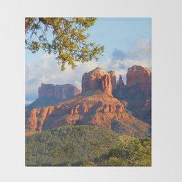 Cathedral Rocks of Sedona Throw Blanket
