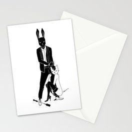Mr Bunny is cruel Stationery Cards
