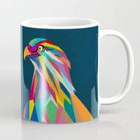 eagle Mugs featuring Eagle by mark ashkenazi