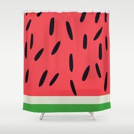 Watermelon summer Shower Curtain