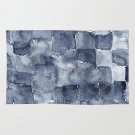 Indigo Watercolor Rug