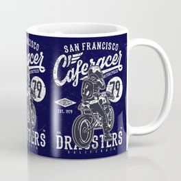 Caferacer Vintage Motorcycle Typography Coffee Mug