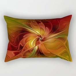 Warmth, Abstract Fractal Art Rectangular Pillow