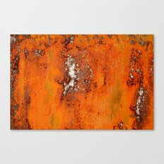 Abstract Red Rust Canvas Print