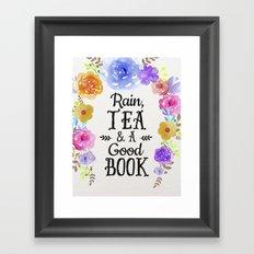 Rain & Tea Framed Art Print