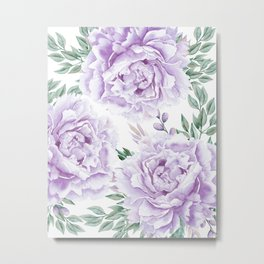 Pretty Purple Flower Garden Metal Print