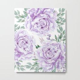 Pretty Purple Flower Garden Metal Print