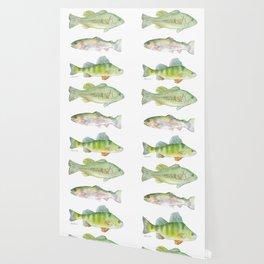 Fishing Watercolor Painting Wallpaper