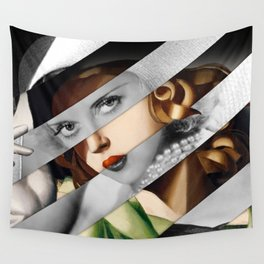 Tamara de Lempicka Girl in a Green Dress & Bette Davis Wall Tapestry