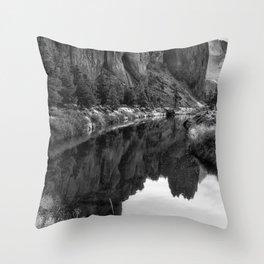 Smith Rock Morning Glow bw Throw Pillow