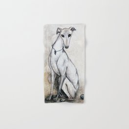 The Greyhound Wearing His Thorn Hand & Bath Towel