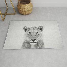 Lioness II - Black & White Rug