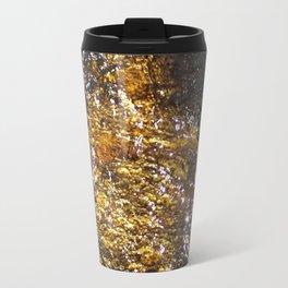 Water On Dark Stone Travel Mug