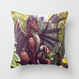 Mending the Dragon Throw Pillow
