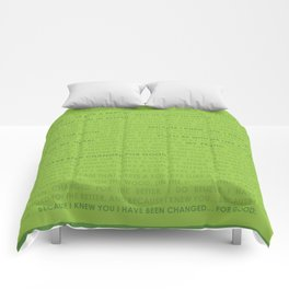 For Good Lyrics (Wicked) Comforters